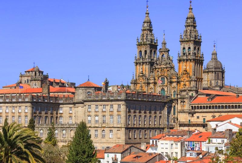 Panor?mica da Catedral - Santiago de Compostela - Espanha