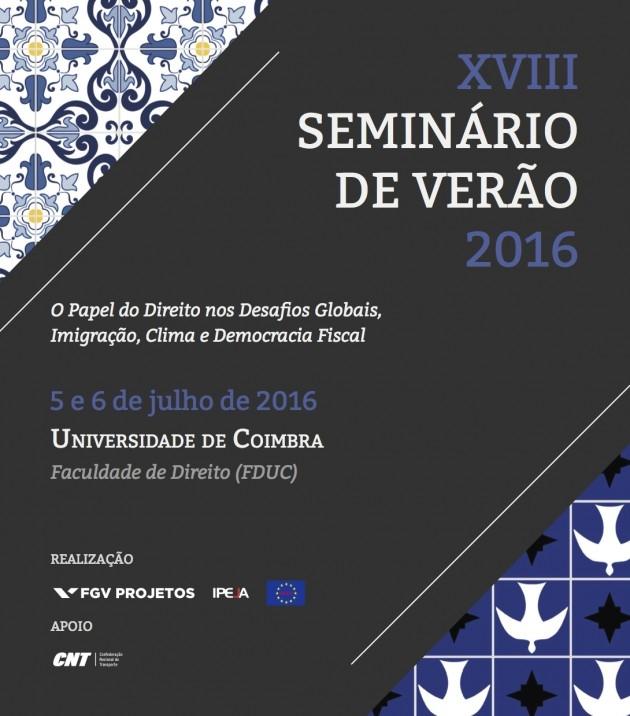 Seminario de Ver?o - Coimbra 2016